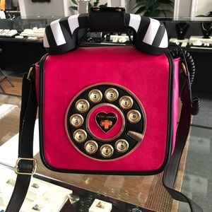 Betsey Johnson Off the Hook Telephone Purse